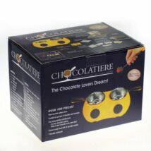 Chocolatiere elektromos csokoládé készítő készlet ajándék öntőformákkal