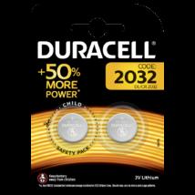Duracell DL2032 3,0V-os lithium gombelem (2db-os)