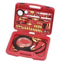 Ellient Tools üzemanyag befecskendező nyomásmérő mester készlet (benzin), 43 db-os