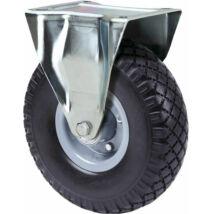 Fix tömlős kerék 300kg teherbírású kiskocsihoz (210mm)