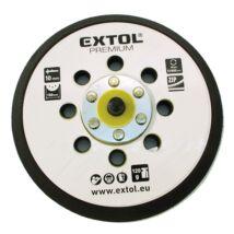 """Extol gumi talp rotációs csiszológéphez, 6"""", 150mm, 8 db lyuk, tépőzáras, max. 12.000/perc, vastagság: 10mm"""