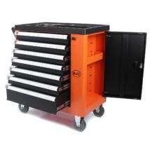 Szerszámkocsi szerszámokkal 250db-os, 7 fiókos + tároló szekrény