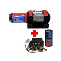 Elektromos csörlő quadhoz 1360kg 12V-os (kompletten)