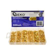 Geko autós kábelcsatlakozó szett, 600db