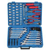 Genius Tools crowafej, bit, csillagvillás és imbuszkulcs készlet, fogók és kiegészítők, 117 db-os