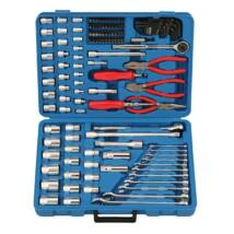 Genius Tools crowafej, bit, csillagvillás és imbuszkulcs készlet, fogók és kiegészítők,125 db-os