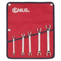 """Genius Tools fékcsőkulcs készlet, 1/4-7/8"""", 5 db-os"""