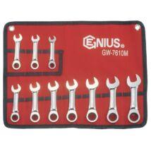 Genius Tools racsnis csillag-villás kulcs készlet, 10-19 mm, 10 db-os