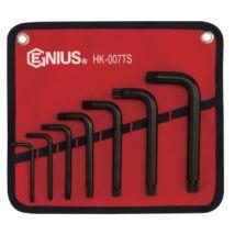 Genius Tools XZN (spline) kulcs készlet, 12-szögű, 7 db-os