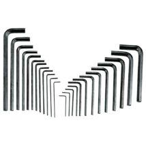 Genius Tools imbuszkulcs készlet, L-alakú, metrikus és colos, 25 darabos
