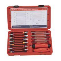 Genius Tools 6-lapos csavarhúzó és imbusz bit készlet cserélhető szárú markolatokkal, metrikus, 21 db-os