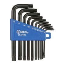 Genius Tools T-torxkulcs készlet, L-alakú, 10 db-os