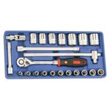 """Genius Tools crowafej készlet, hosszú, metrikus 1/2"""", 23 db-os"""