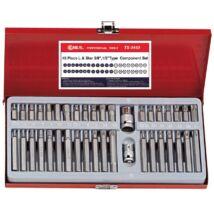 Genius Tools T-torx, imbusz, XZN bit készlet, 40 db-os