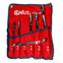 Genius Tools crowafej kulcs készlet, csuklós, 8-19 mm, 6 db-os