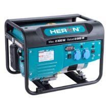 Heron egyfázisú benzinmotoros áramfejlesztő, max 1800VA