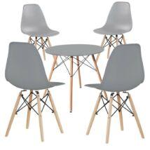 4db modern étkezőszék asztallal, szürke
