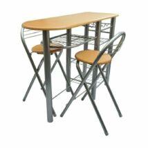 Konyhai bárszett asztallal és két székkel