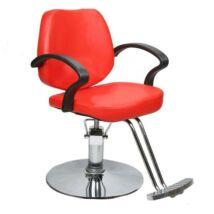 Műbőr fodrász szék, piros