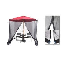Szúnyogháló 2,7 m-es napernyőre, fekete
