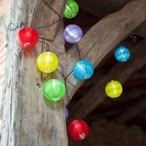 Party lampion, 10 LED-es, elemes