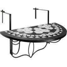 HOP1000929-1 Lehajtható balkon asztal, fekete