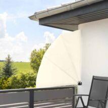 HOP1000937-2 Legyező árnyékoló erkélyre 140cm, fehér