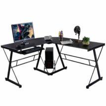 L - alakú íróasztal fekete