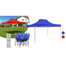 Kerti pavilon, összecsukható 3x4,5 m, kék