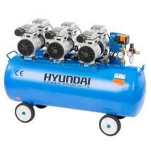 Hyundai HYD-100F csendes, olajmentes kompresszor, 2.25kW, 100L, 8bar