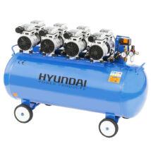 Hyundai HYD-200F csendes, olajmentes kompresszor, 3.0kW, 200L, 8bar