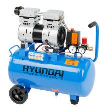 Hyundai HYD-24F csendes, olajmentes kompresszor, 750W, 24L, 8bar