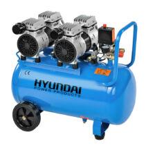 Hyundai HYD-50F csendes, olajmentes kompresszor, 1.1kW, 50L, 8bar