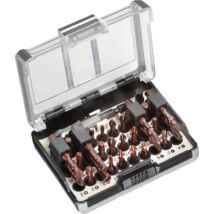 KWB PROFI BIT-BOX TORSION bit készlet 28 db, övre csíptethető ISO 1173