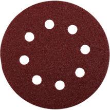 KWB PROFI QUICK-STICK tépőzáras alu.oxid csiszolópapír fémre, fára  5 db, 125 mm G80