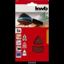 KWB PROFI QUICK-STICK tépőzáras alu.oxid nagy delta csiszolópapír  5 db  G120