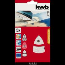KWB PROFI QUICK-STICK tépőzáras szilikon-karbid nagy delta csiszolópapír festett felületre 5 db G40
