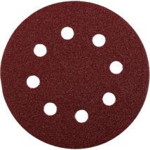KWB PROFI QUICK-STICK tépőzáras alu.oxid csiszolópapír fémre, fára 20 db, 125 mm G80