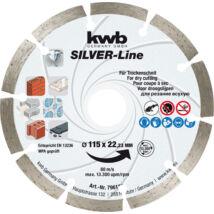 KWB SILVER-Line DIAMOND szegmentált gyémánt vágókorong 115 x 22 mm