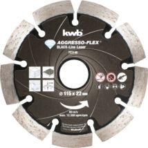 KWB PROFI BLACK-LINE szegmentált gyémánt vágókorong 115x22mm