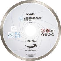 KWB PROFI WHITE-LINE szegmentált gyémánt vágókorong 125x22mm