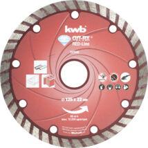 KWB PROFI RED-LINE szegmentált gyémánt vágókorong 115x22mm