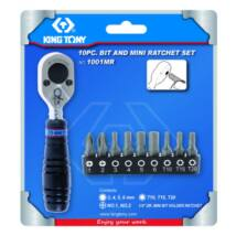 King Tony 10 részes 1/4˝ bit & racsni készlet