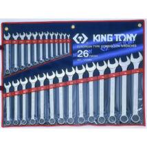 King Tony 26 részes csillag-villáskulcs készlet 6-32 mm