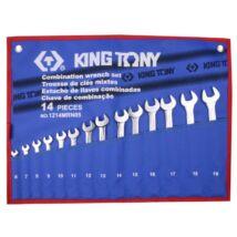 King Tony 14 részes csillag-villáskulcs készlet 6-19mm