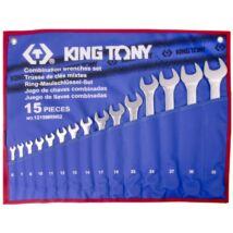 King Tony 15 részes csillag-villáskulcs készlet 6-32mm