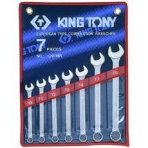 King Tony 7 részes csillag-villáskulcs készlet 10-19 mm