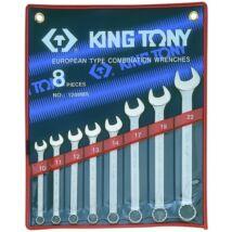 King Tony 8 részes csillag-villáskulcs készlet 10-22 mm