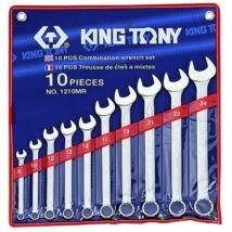 King Tony 10 részes csillag-villáskulcs készlet 8-24 mm