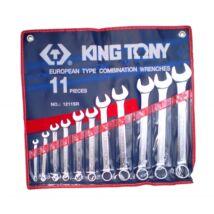 King Tony 11 részes csillag-villáskulcs készlet coll 1/4-15/16˝